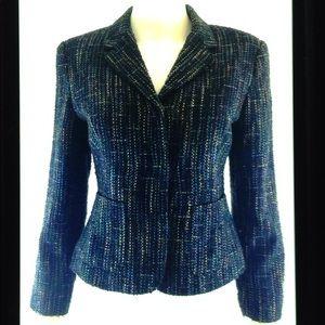 Sag Harbor Petite Multi Color Tweed Lined Blazer